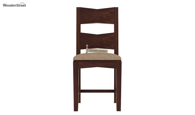 Verina Dining Chair With Fabric (Walnut Finish)-2