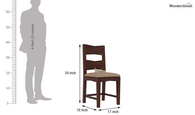 Verina Dining Chair With Fabric (Walnut Finish)-3