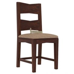 Verina Dining Chair With Fabric (Walnut Finish)