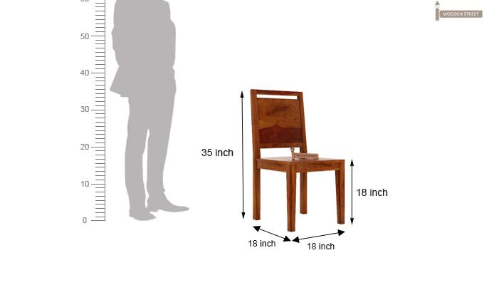 Veronica Dining Chair (Honey Finish)-3