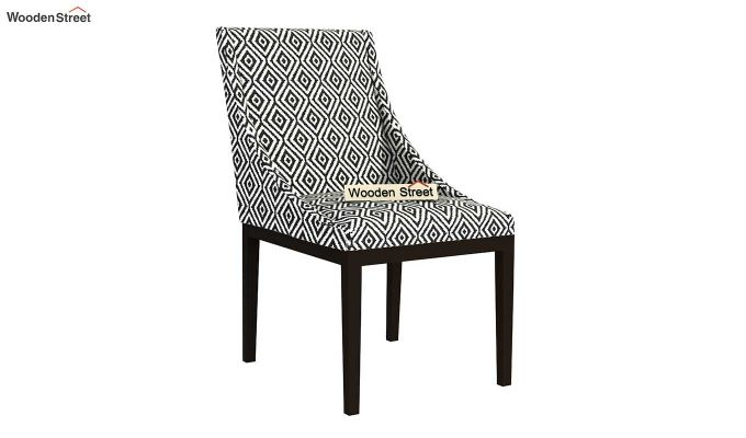 Wave Dining Chair (Charcoal Rhombus, Black Finish)-2