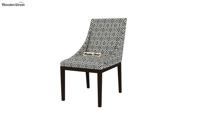 Wave Dining Chair (Charcoal Rhombus, Black Finish)-3
