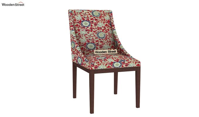 Wave Dining Chair Printed Fabric (Scarlet Blue)-2