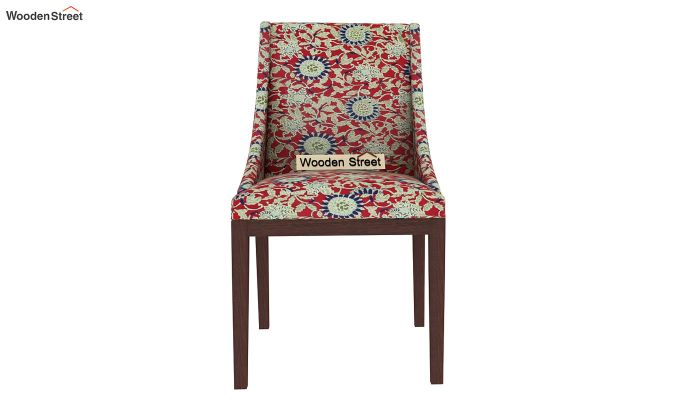 Wave Dining Chair Printed Fabric (Scarlet Blue)-3