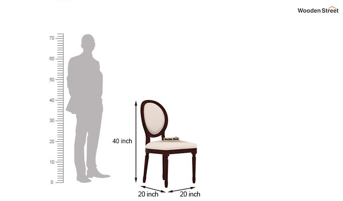 Clark 4 Seater Round Dining Set (Mahogany Finish)-10