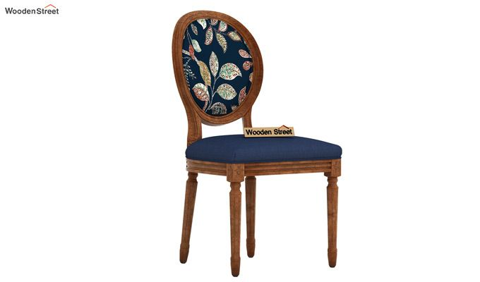 Zen Dining Chair (Indigo Ink, Dusky Leaf)-2