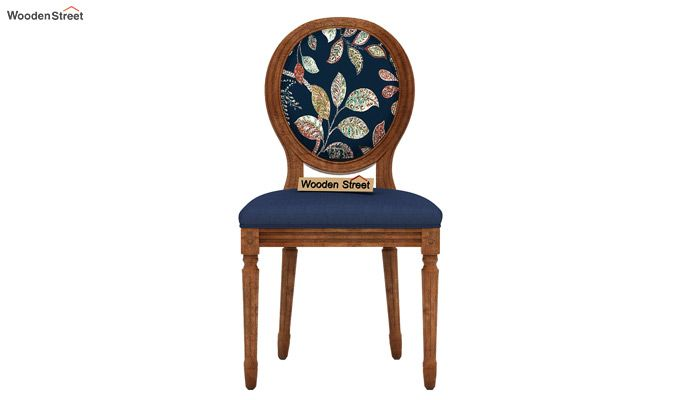 Zen Dining Chair (Indigo Ink, Dusky Leaf)-3