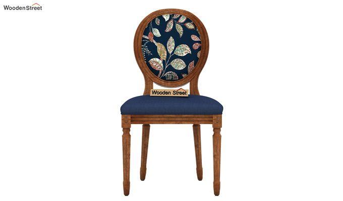 Zen Arm Chair (Indigo Ink, Dusky Leaf)-3