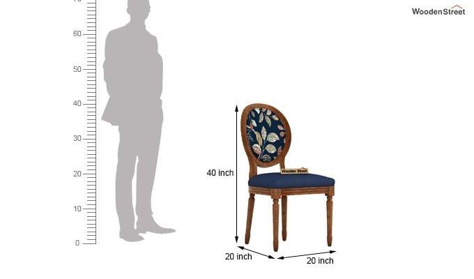 Zen Arm Chair (Indigo Ink, Dusky Leaf)-4