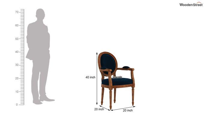Zen Arm Chair (Indigo Blue)-4