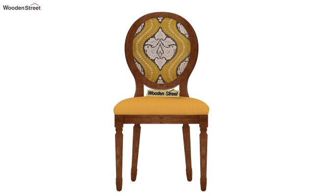Zen Dining Chair (Yellow Blush, Mustard Coral)-3
