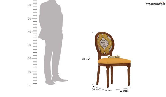 Zen Dining Chair (Yellow Blush, Mustard Coral)-4