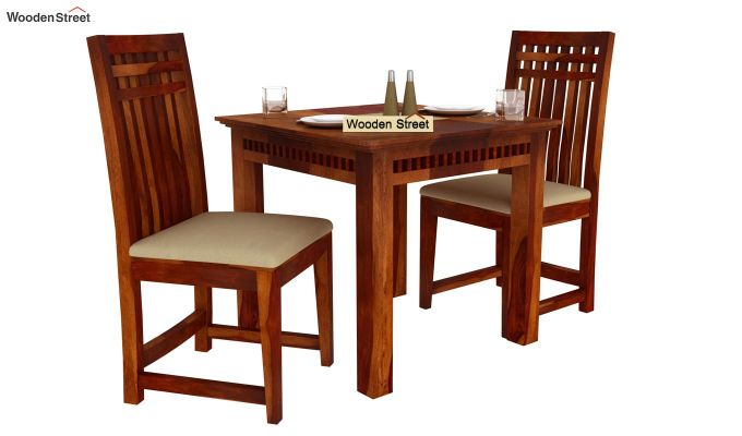 Adolph 2 Seater Dining Set (Honey Finish)-2