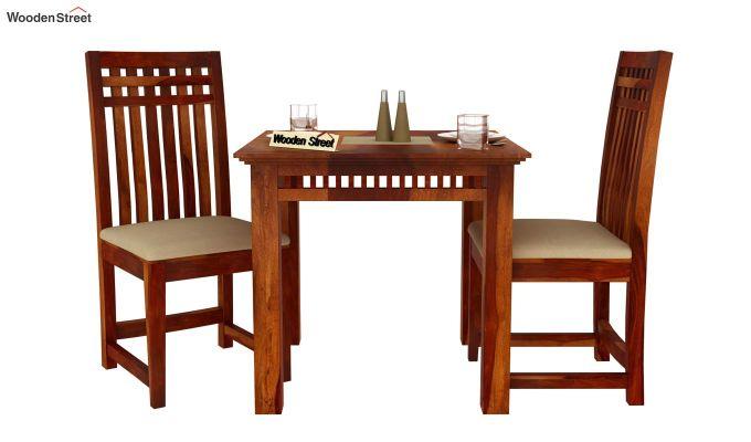 Adolph 2 Seater Dining Set (Honey Finish)-3