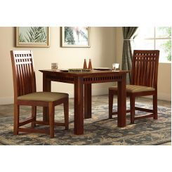 Adolph 2 Seater Dining Set (Honey Finish)