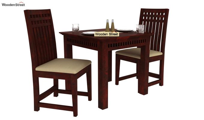 Adolph 2 Seater Dining Set (Mahogany Finish)-1