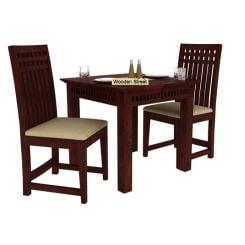 Adolph 2 Seater Dining Set (Mahogany Finish)