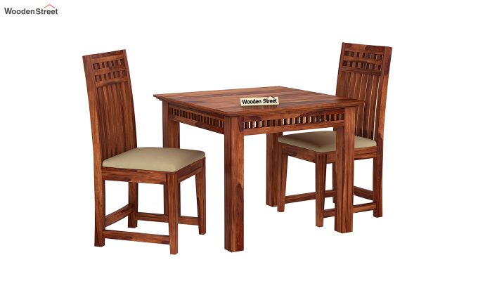 Adolph 2 Seater Dining Set (Honey Finish)-2