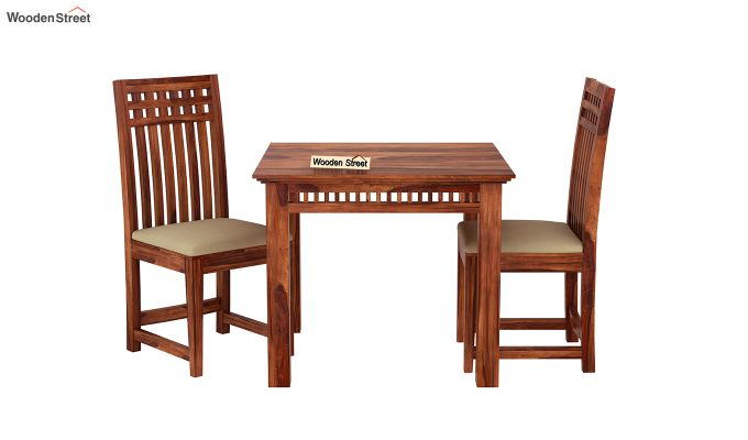 Adolph 2 Seater Dining Set (Honey Finish)-3