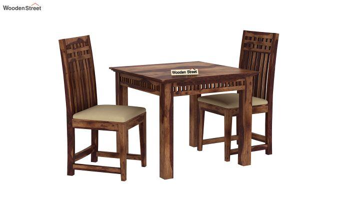 Adolph 2 Seater Dining Set (Teak Finish)-2