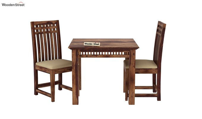 Adolph 2 Seater Dining Set (Teak Finish)-3