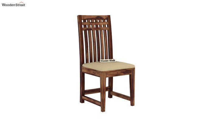 Adolph 2 Seater Dining Set (Teak Finish)-6