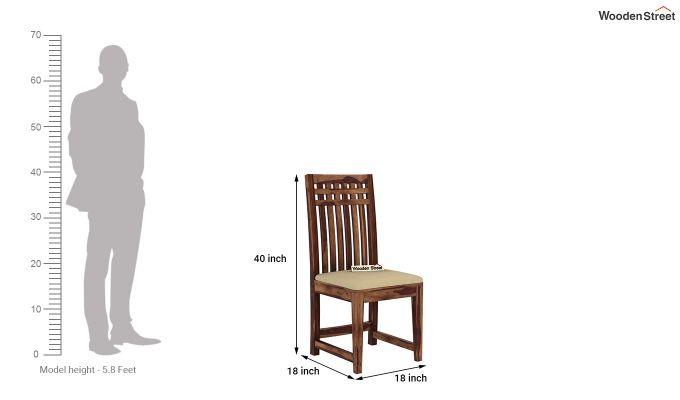 Adolph 2 Seater Dining Set (Teak Finish)-9