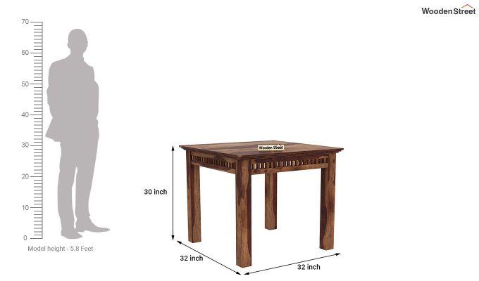 Adolph 2 Seater Dining Set (Teak Finish)-8