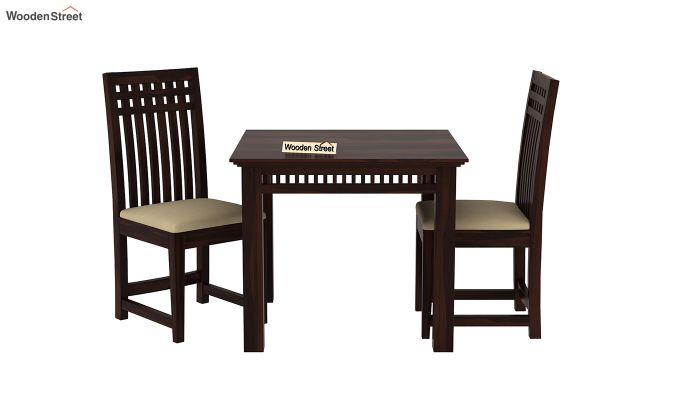 Adolph 2 Seater Dining Set (Walnut Finish)-3