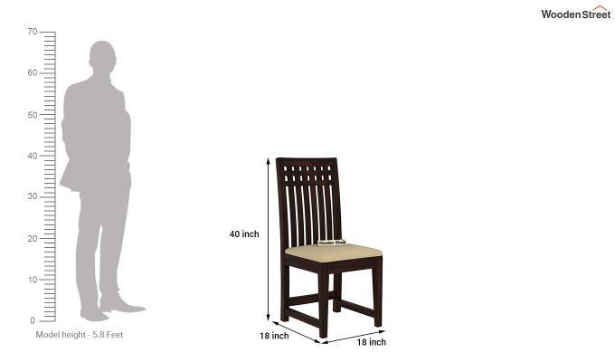 Adolph 2 Seater Dining Set (Walnut Finish)-9