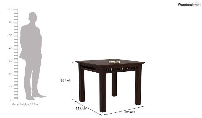 Adolph 2 Seater Dining Set (Walnut Finish)-8