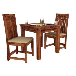 Adolph 2 Seater Dining Set (Teak Finish)