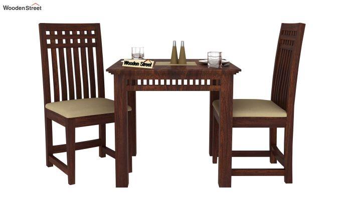 Adolph 2 Seater Dining Set (Walnut Finish)-2