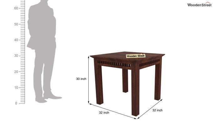Adolph 2 Seater Dining Set (Walnut Finish)-7