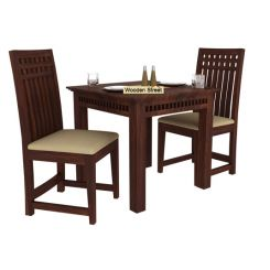 Adolph 2 Seater Dining Set (Walnut Finish)