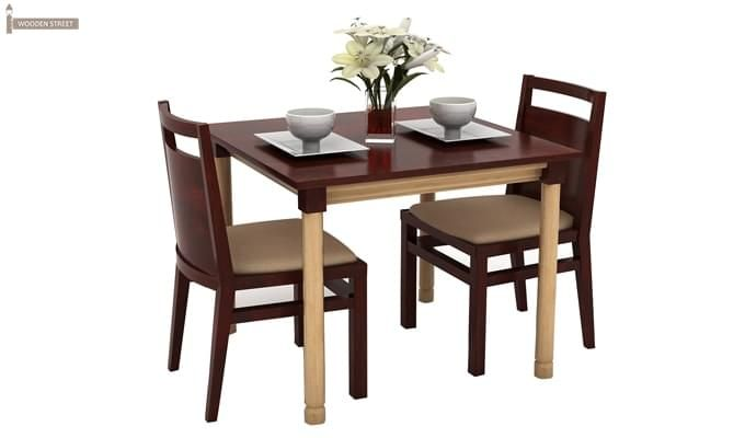 Adriel 2 Seater Dining Set (Mahogany Finish)-2