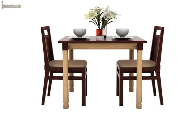 Adriel 2 Seater Dining Set (Mahogany Finish)-3
