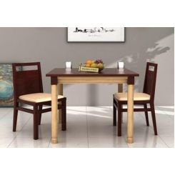 Adriel 2 Seater Dining Set (Mahogany Finish)