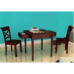 Aldore 2 Seater Dining Table Set (Mahogany Finish)