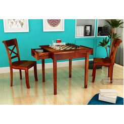 Aldore 2 Seater Dining Table Set (Teak Finish)