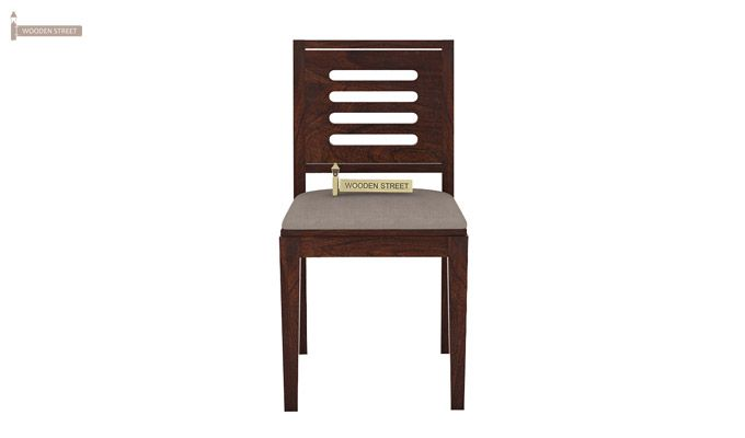 Benz Wall Mount 2 Seater Foldable Dining Set (Walnut Finish)-6
