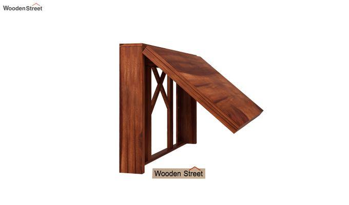 Benz Wall Mount 2 Seater Foldable Dining Set (Honey Finish)-4