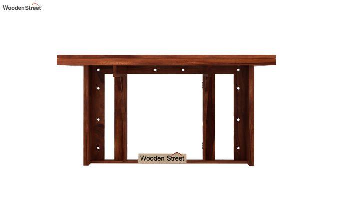 Benz Wall Mount 2 Seater Foldable Dining Set (Honey Finish)-3