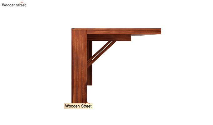 Benz Wall Mount 2 Seater Foldable Dining Set (Honey Finish)-5
