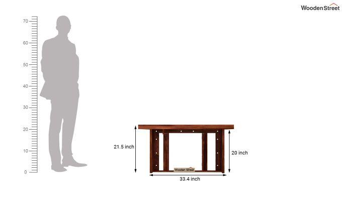 Benz Wall Mount 2 Seater Foldable Dining Set (Honey Finish)-9