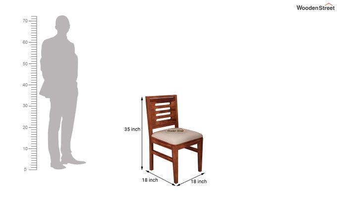 Benz Wall Mount 2 Seater Foldable Dining Set (Honey Finish)-11