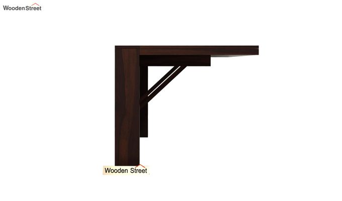 Benz Wall Mount 2 Seater Foldable Dining Set (Walnut Finish)-5