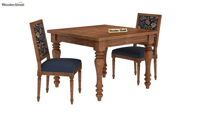 Bonita 2 Seater Printed Dining Set (Dusky Leaf, Teak Finish)-2