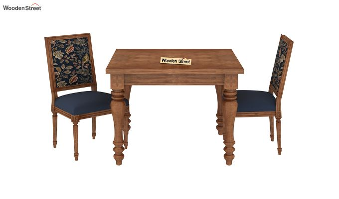 Bonita 2 Seater Printed Dining Set (Dusky Leaf, Teak Finish)-3