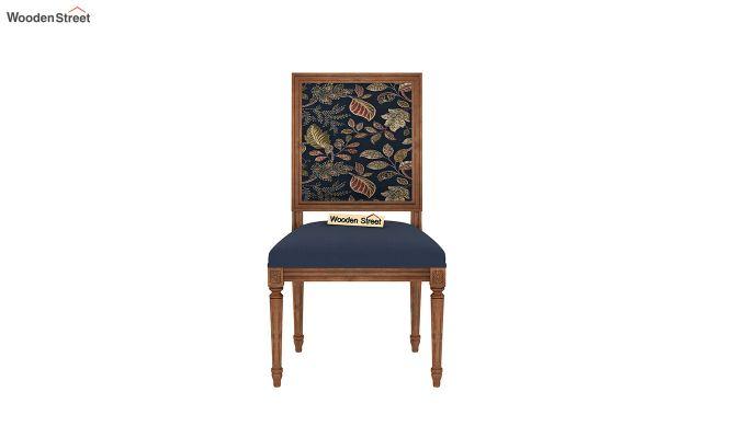 Bonita 2 Seater Printed Dining Set (Dusky Leaf, Teak Finish)-7